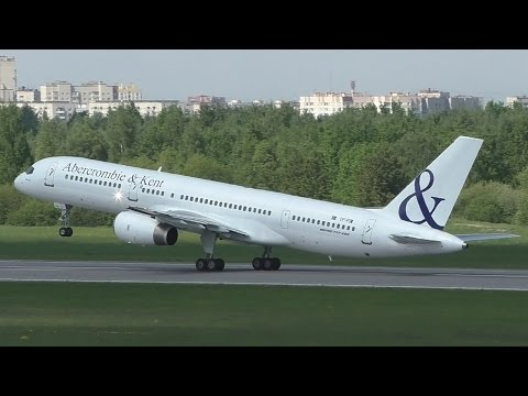 Abercrombie & Kent (Fly Salone) VIP Boeing 757-200 | Takeoff from St. Petersburg airport Pulkovo