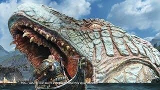 God of War 4 2018 Between the Realms No Damage Walkthrough Part 57 PS4 PRO
