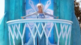 FROZEN Parade at Disney's Hollywood Studios w/ New Elsa Float, Kristoff & Olaf - 2015 Summer Fun