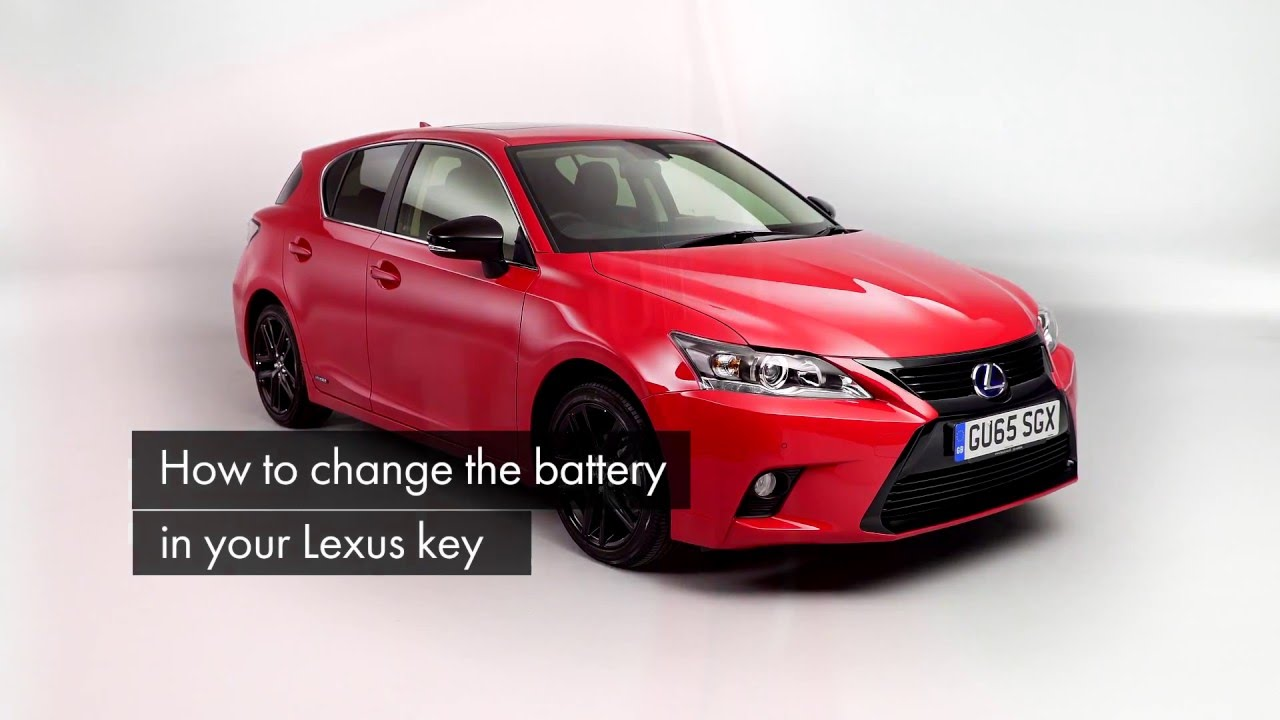 How To Replace The Battery In Your Lexus Key Fob Lexus