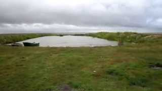 Рибалка в негоду на озері б. Курталы Тюменська область. 1 - серія