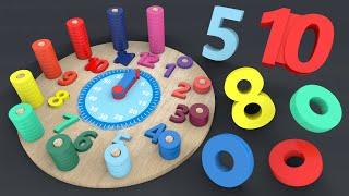 Nauka zegara dla dzieci - dopasowywanie cyfr i liczb | CzyWieszJak