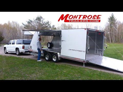 """Montrose Trailers: """"Low Profile Power Tilt Enclosed Trailer"""""""