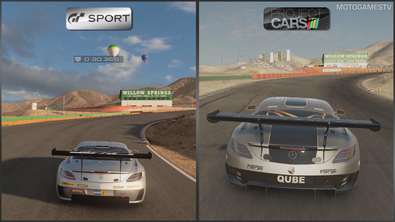 gran turismo sport beta vs project cars mercedes sls amg. Black Bedroom Furniture Sets. Home Design Ideas