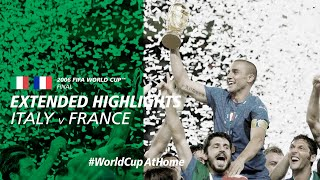 WorldCupAtHome Italy 1 1 France 5 3 PSO Extended Highlights 2006 FIFA World Cup