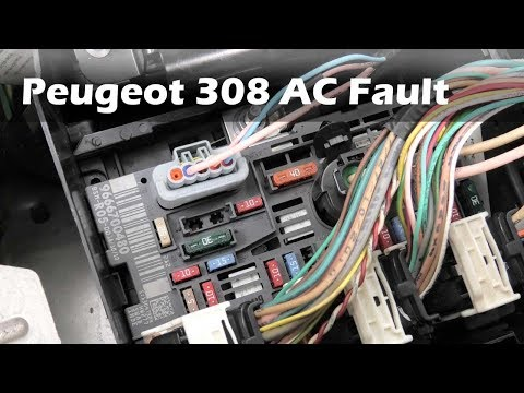Peugeot 308 AC not working diagnostic repair. PART 1