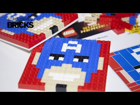 Lego Marvel Super Heroes Captain America Mosaic Toys R Us Speed Build