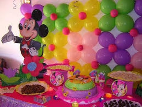 Decoracion con globos para fiestas infantiles youtube - Decoracion de pared ...
