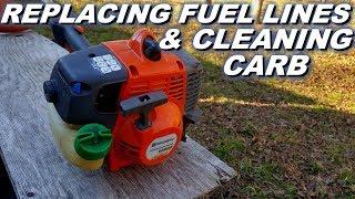 Husqvarna trimmer fuel line and carb rebuild