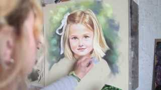 Pastel portrait by Graciela, Bogra