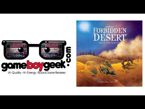 Forbidden Desert Review With The Game Boy Geek