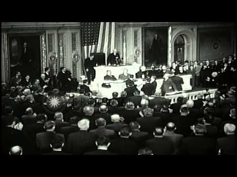 Legislators arrive at the US Capitol and are greeted on stairs as the 79th United...HD Stock Footage