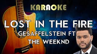 The Weeknd - Lost In The Fire (Acoustic Guitar Karaoke Instrumental) ft. Gesaffelstein