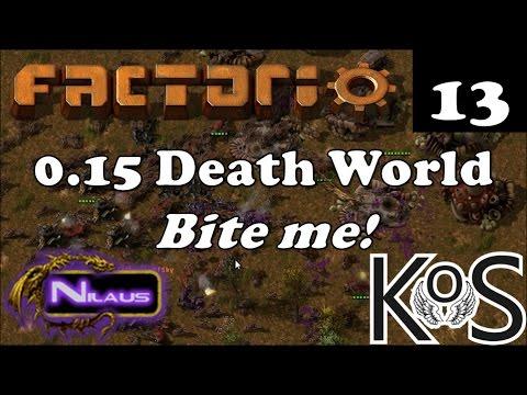 Factorio 0.15 Death World - E13 - Things that go boom