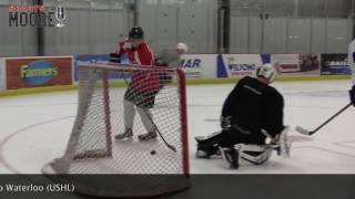 Shane Bowers and Sidney Crosby practice two years ago