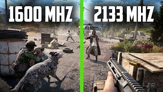 Far Cry 5 | 1600 MHz vs 2133 MHz (2x8GB DDR3)