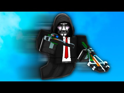 """I became a """"HACKER"""" with ARCHER KIT in Roblox Bedwars.."""