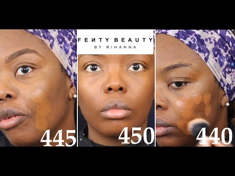 NEW FENTY BEAUTY FOUNDATION + CONCEALER: SHADE 440/445/450