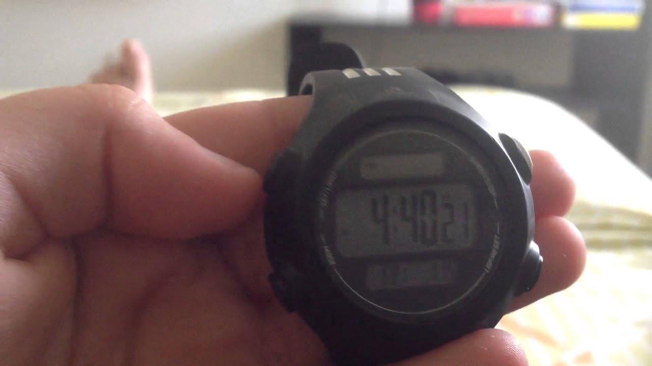 Cálculo Continuamente Cuna  Como cambiar la hora de un reloj adidas - YouTube