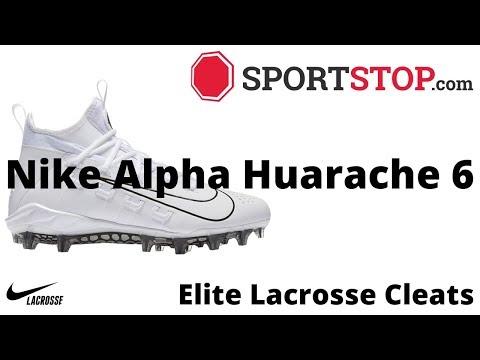 Nike Alpha Huarache 6 Elite Lacrosse Cleat Product Video @SportStop.com