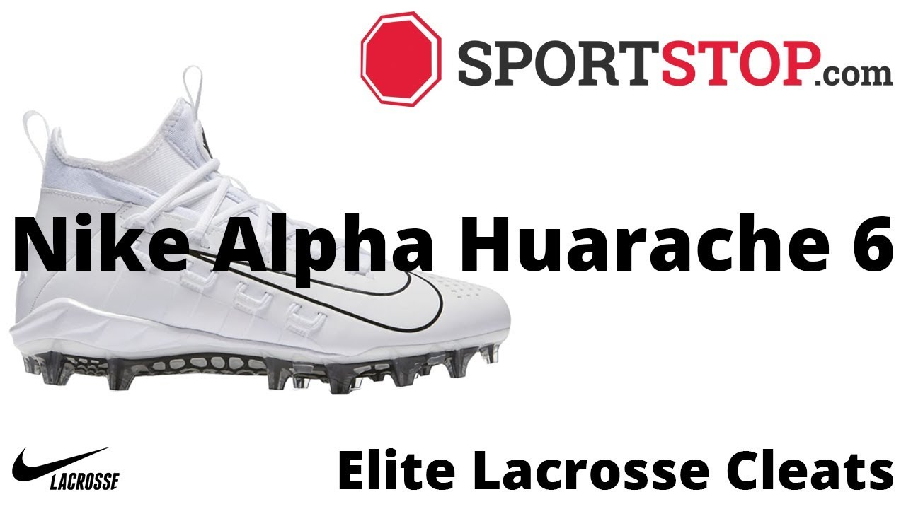 reputable site bebb3 a0764 Nike Alpha Huarache 6 Elite Lacrosse Cleat Product Video  SportStop.com