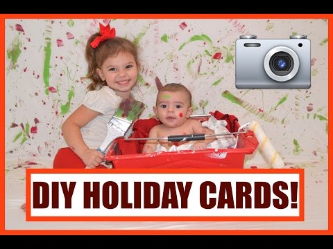 DIY HOLIDAY CARDS! | VLOGMAS DAY 8