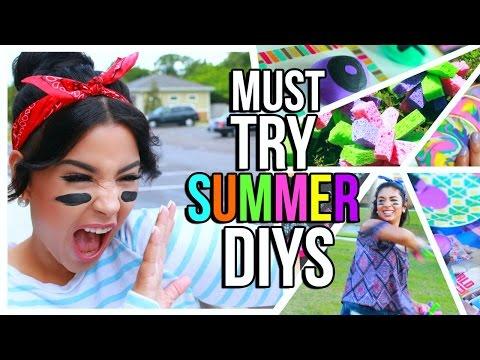 Must Try Summer DIY's! Room Decorations + Fun Activities!