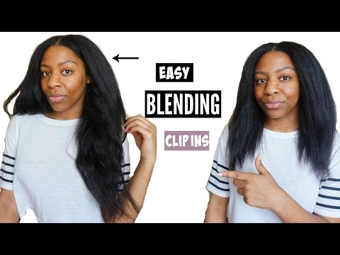 How To: Blend Clip In Extensions W/Natural Hair EASY | T'keyah B