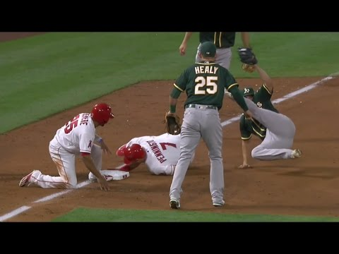 Kendall Graveman unassisted double play | Athletics @ Angels | April 27th, 2017