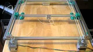 h bot 3d printer hb1 dry test no 4
