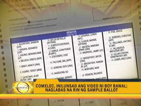 Sample ballot, instructional election video released Mp3