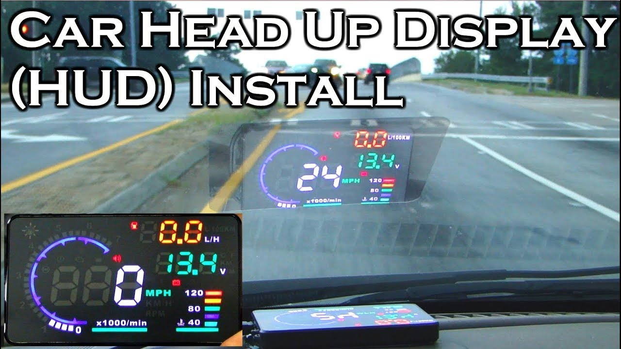 car head up display a8 5 5 obdii hud review and install gearbest [ 1280 x 720 Pixel ]