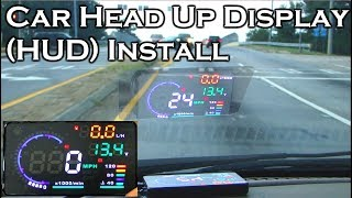 "Car Head Up Display - A8 5.5"" OBDII HUD - Review and Install - GearBest"