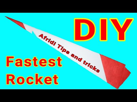 DIY The Fastest Paper Rocket With Rubber Power By Afridi Tips And Tricks