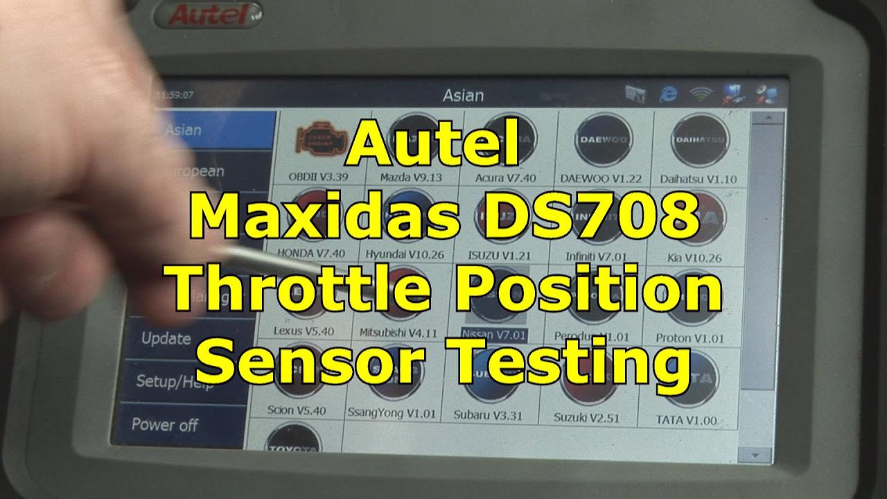 Video Nissan Throttle Body Re Learn Using Maxidas Ds708 3GP