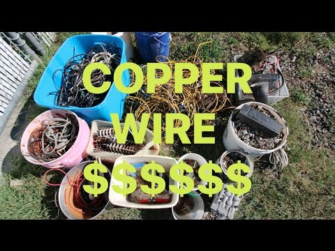 Making MONEY Scrapping Copper WIRE