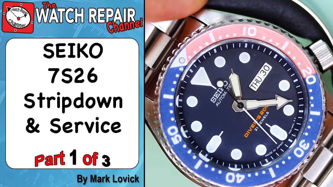 part 1 of 3 seiko 7s26 skx automatic watch service and lubrication seiko 5 youtube. Black Bedroom Furniture Sets. Home Design Ideas