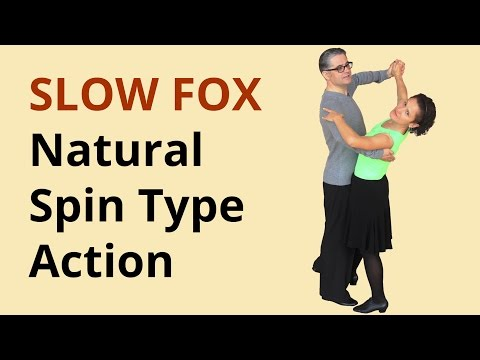 How to Dance Slow Foxtrot? Natural Spin Type Action