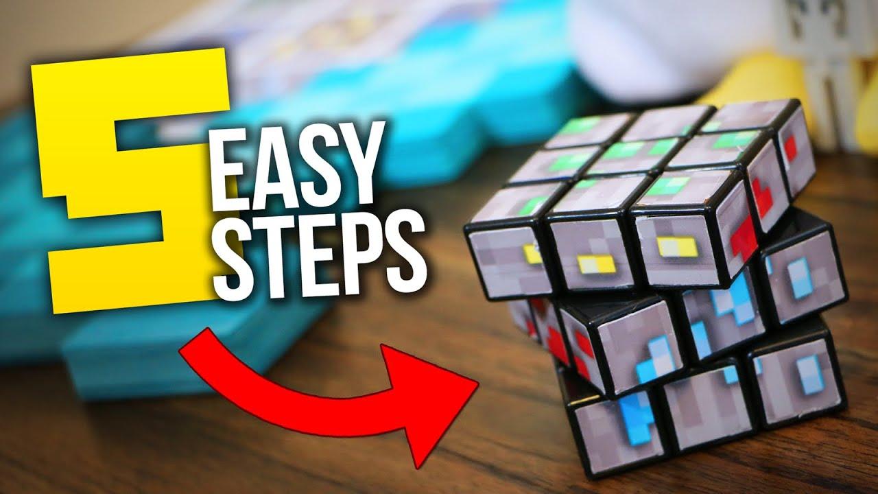 Custom minecraft diy rubiks cube tutorial