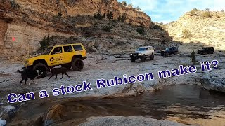 Jeep Wrangler Rubicon vs Toyota Land Cruiser vs XJ. Winter 4x4 Jamboree Toquerville Falls