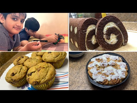 Sweet Treat For Boys || Swiss Roll Cake • Whole-wheat Muffin • Cinnamon Roll