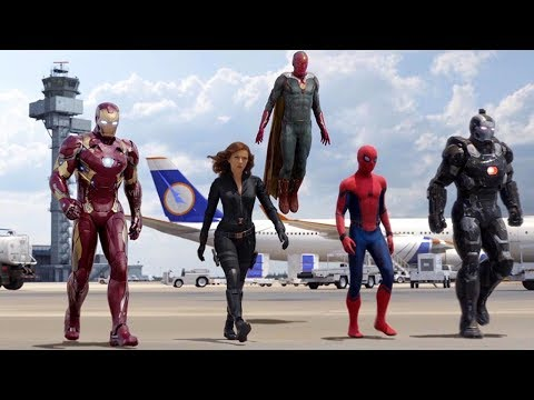 Team Iron Man vs Team Cap - Airport Battle Scene - Captain America: Civil War - Movie CLIP HD