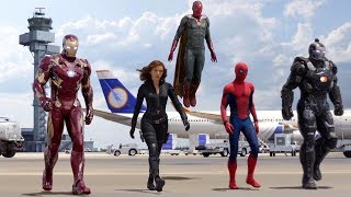 Team Iron Man vs Team Cap - Airport Battle Scene -...