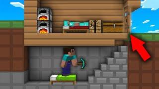 Minecraft NOOB vs PRO: ONLY NOOB CAN FOUND SECRET DOOR IN SECRET BASE! Challenge 100% trolling