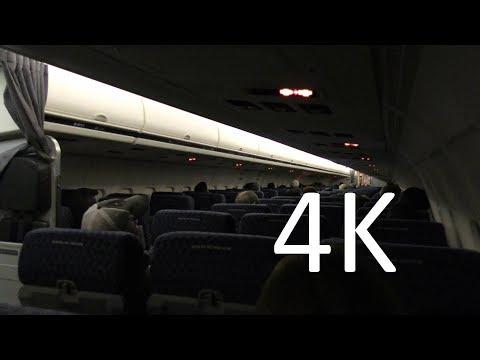 4K Plane Trip Video: Houston (IAH) to Dallas (DFW) at night