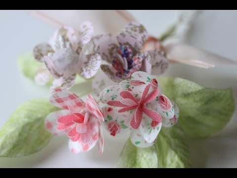 How To Make Simple Wafer Paper Flowers Youtube