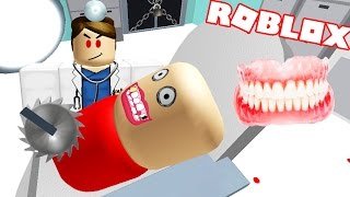 the teeth together honey?, literally children! The Evil Dentist Roblox Obby Escape |.