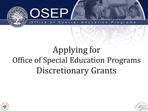 Overview For Applying For Office Of Special Education Programs Discretionary Grants