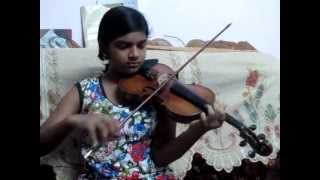 Varamanjaladiya Ravinte Maril on violin by Abha (Disciple of Violinist P Chidambaranath).
