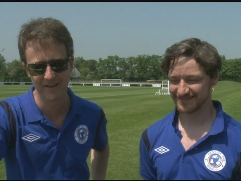 Soccer Aid: Ed Norton and James McAvoy discuss ball skills
